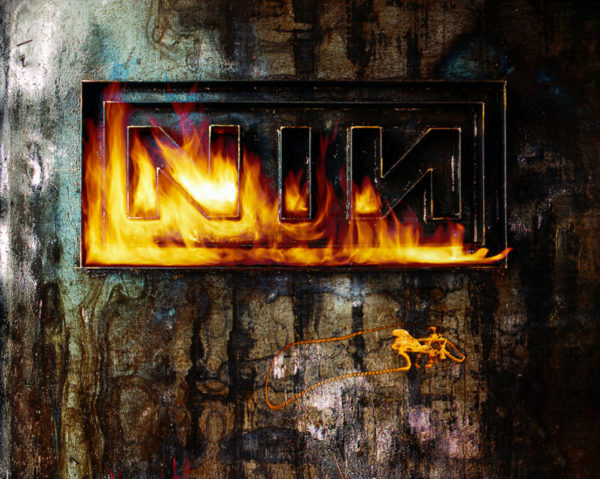 BURNING THE LETTERS NINE INCH NAILS