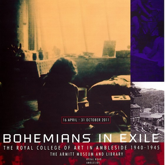 Armitt Museum Ambleside Bohemians in Exile Poster 2011 Designed by Russell Mills & Michael Webster