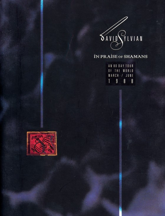 David Sylvian In Praise of ShamansTour programme for Opium (Arts) Ltd 1988Art & Design by Mills co-design by Dave Coppenhall