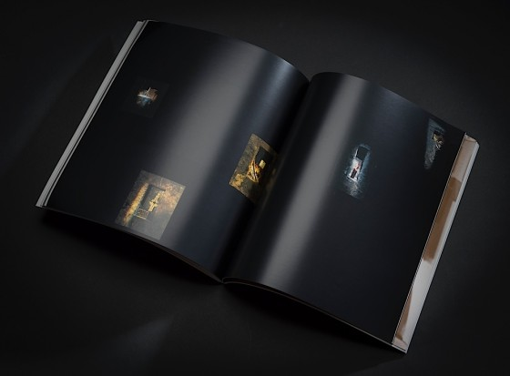 David Sylvian and Russell Mills, Ember Glance: The Permanence of Memory Limited edition boxed book with CD: Double page spread Virgin Records, 1990 Art and design by Mills, co-design by Dave Coppenhall