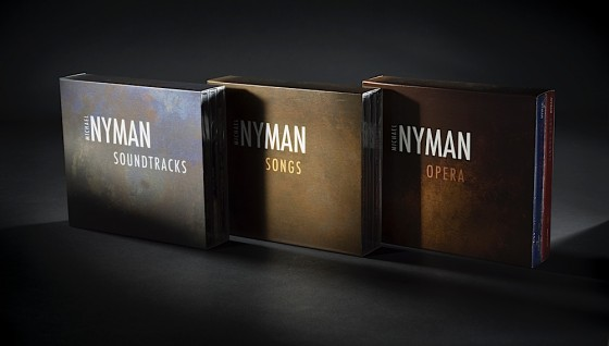 Michael Nyman, Soundtracks, Songs and Opera Box sets. 2009: pack shot Art and design by Russell Mills; co-design by Michael Webster