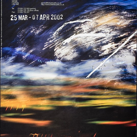 Cleave | Soft Bullets: Russell Mills Exhibition poster for the Brewery Arts Centre, Kendal, 2002 Art by Russell Mills; design by Neasdon Control Centre