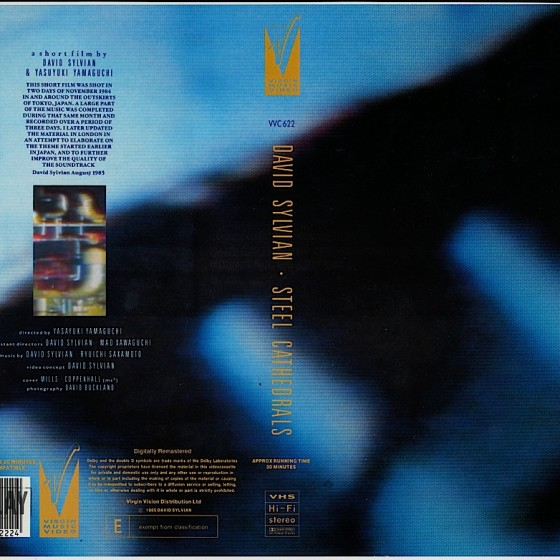 David Sylvian: Steel Cathedrals Video cover (1985) Art and design by Mills, co-design by Dave Coppenhall
