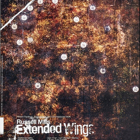 Extended Wings: Russell Mills Exhibition poster for the Brewery Arts Centre, Kendal, 2002 Art by Russell Mills; design by Neasdon Control Centre