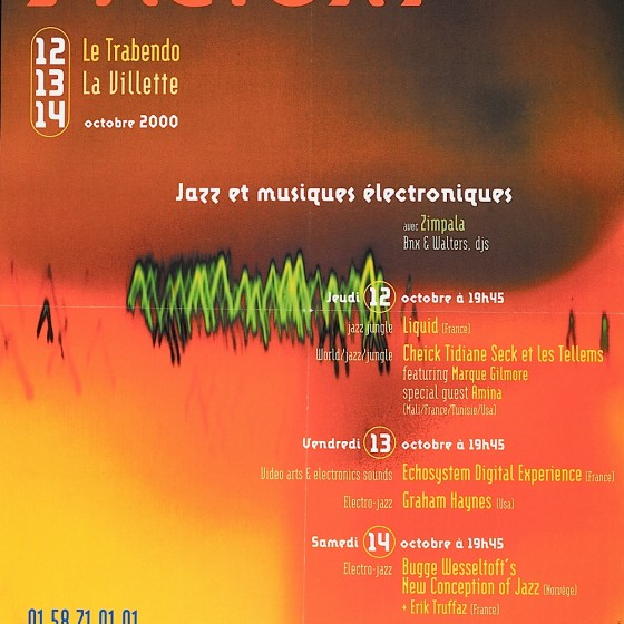 Festival D'Ile De France Presente Factory Poster for festival, 2000 Imagery by Russell Mills; design by Bob Moulin