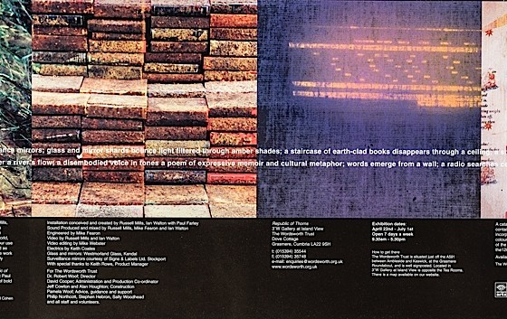 Republic of Thorns: Paul Farley, Russell Mills and Ian Walton The Wordsworth Trust, 2001 Exhibition catalogue with CD: outer and inner brochure Art and design by Russell Mills; co-design by Michael Webster