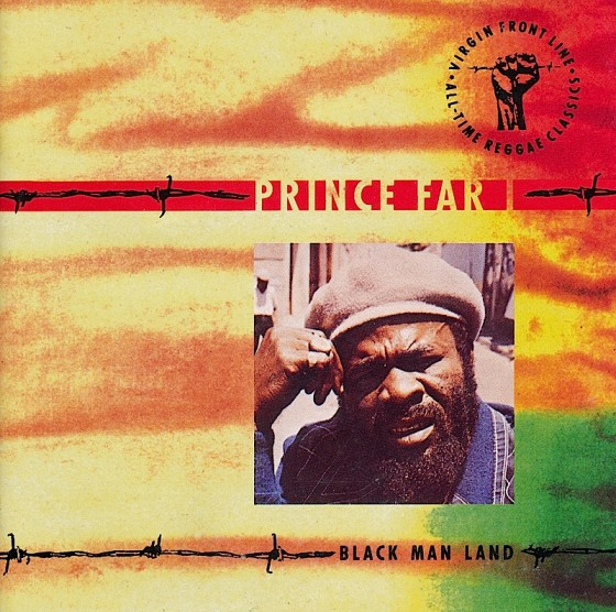 Beyond The Frontline 5: Prince Far I: Black Man Land Virgin Records 1990 Art & design by Mills co-design by Dave Coppenhall