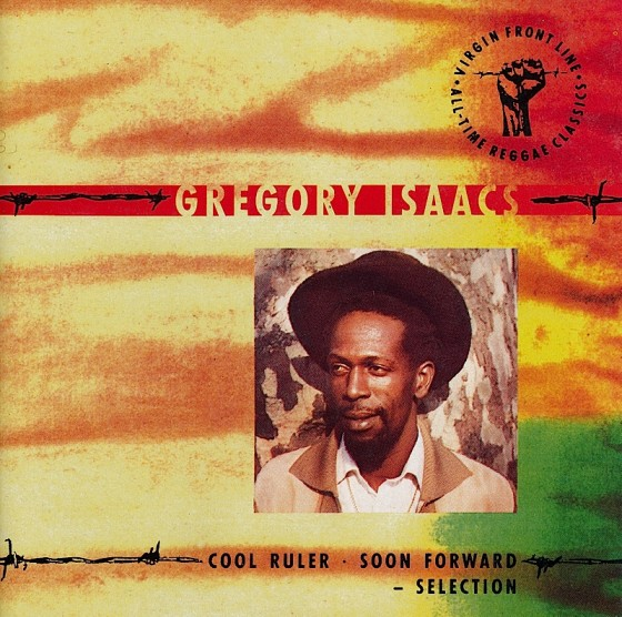Beyond The Frontline 12: Gregory Isaacs: Cool Ruler/Soon Forward Selection Virgin Records 1990 Art & design by Mills co-design by Dave Coppenhall