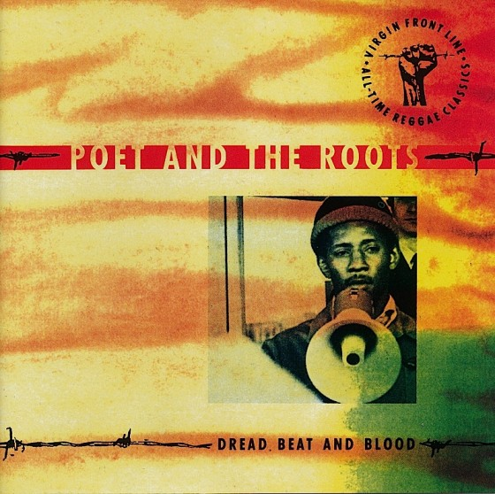 Beyond The Frontline 9: Poet and The Roots: Dread Beat and Blood Virgin Records 1990 Art & design by Mills co-design by Dave Coppenhall