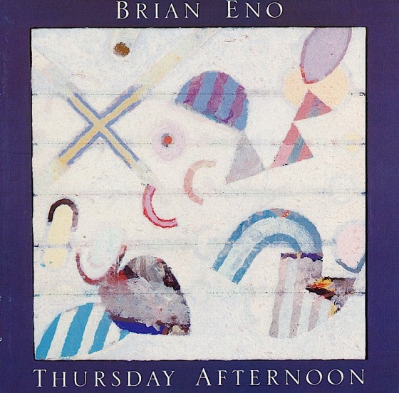 Brian Eno Thursday Afternoon Editions EG 1985 Art and design by Mills painting detail by Tom Phillips