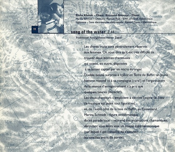 Hector Zazou Songs from the Cold Seas Sony France 1994  Art & design by Mills co-design by Dave Coppenhall design assistance Michael Webster