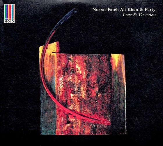 Nusrat Fateh Ali Khan Love and Devotion Real World Records 2013 Design by Marc Bessant at Real World images by Mills