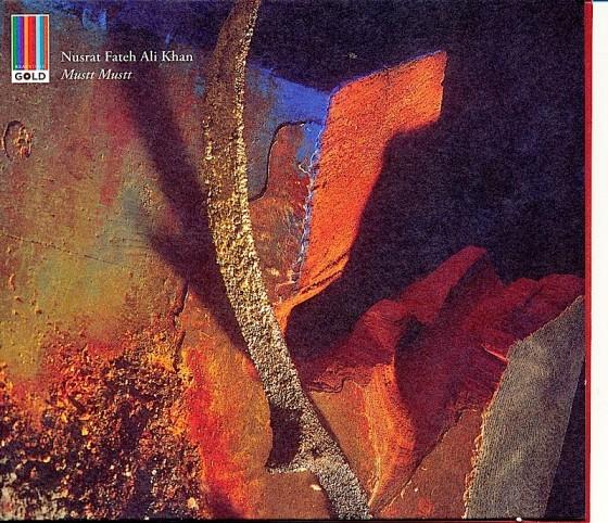 Nusrat Fateh Ali Khan Musst Musst Real World Records 1990 Design by Malcolm Garrett images by Mills