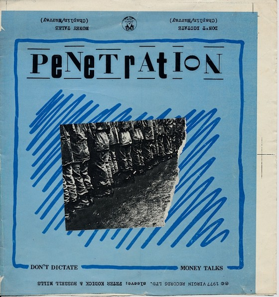Penetration Don't Dictate Virgin Records 1977 Art and design by Mills with Peter Kodick