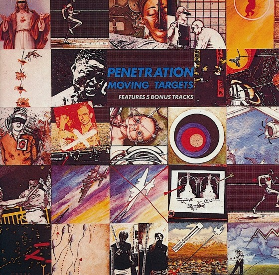 Penetration Moving Targets Virgin Records 1977 Art and design by Mills images by Mills and Robert Mason