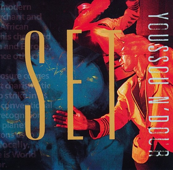 Youssou N'Dour, Set Sampler Virgin Records, 1990, Art and design by Russell Mills, Co-design by Dave Coppenhall