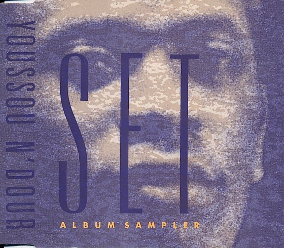 Youssou N'Dour, Set Virgin Records, 1990, Art and design by Mills, co-design by Dave Coppenhall
