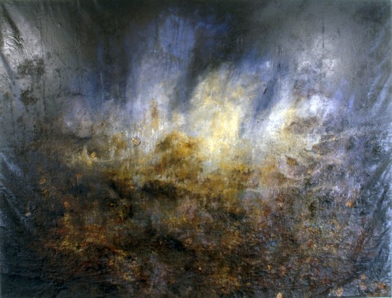 Between Two Lights 1994-95 Oils, acrylics, plaster, pigments, bronze powder, earth, leaves, on canvas 259 x 312 cm Private collection Japan