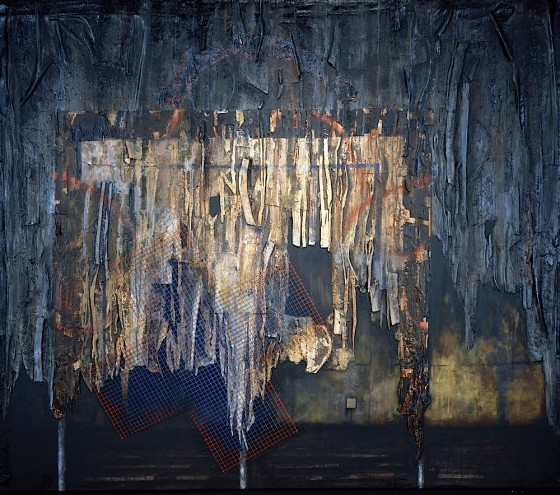 Dark House 1995-96 Oils, acrylics, plaster, earth, foam, wire mesh, on canvas 183 x 243.8 cm Private collection Germany