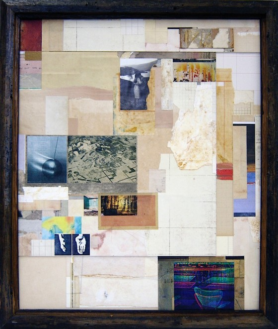 Disjecta Membra 2010 Acrylics, treated papers, printed papers, colour Xerox photocopies, baked Polaroid, on card 55 x 47 cm