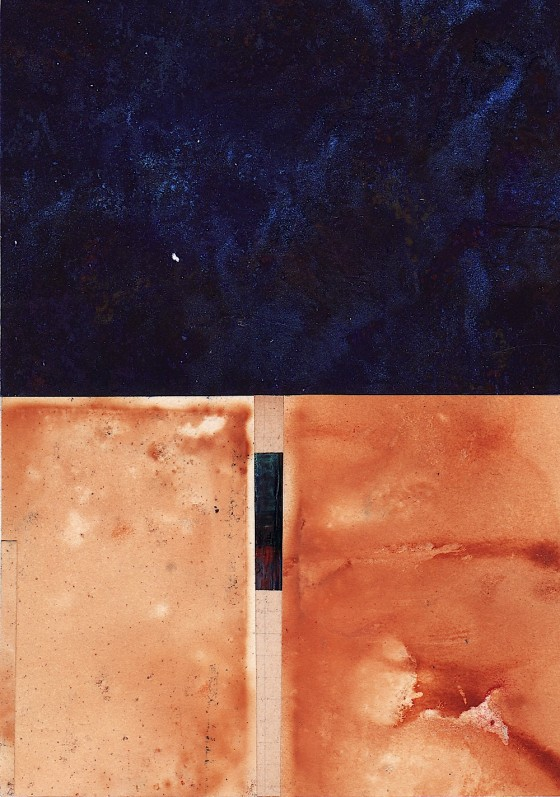 Dust Becomes Fire #2 2011 Treated papers, X-ray, on card 16 x 11 cm Private collection UK