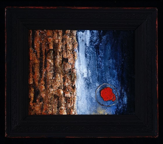 Marking Time #2 1992 Oils, acrylics, plaster, earth, wood stains, wax, metal, on wood 35.5 x 30.5 cm Private Collection USA