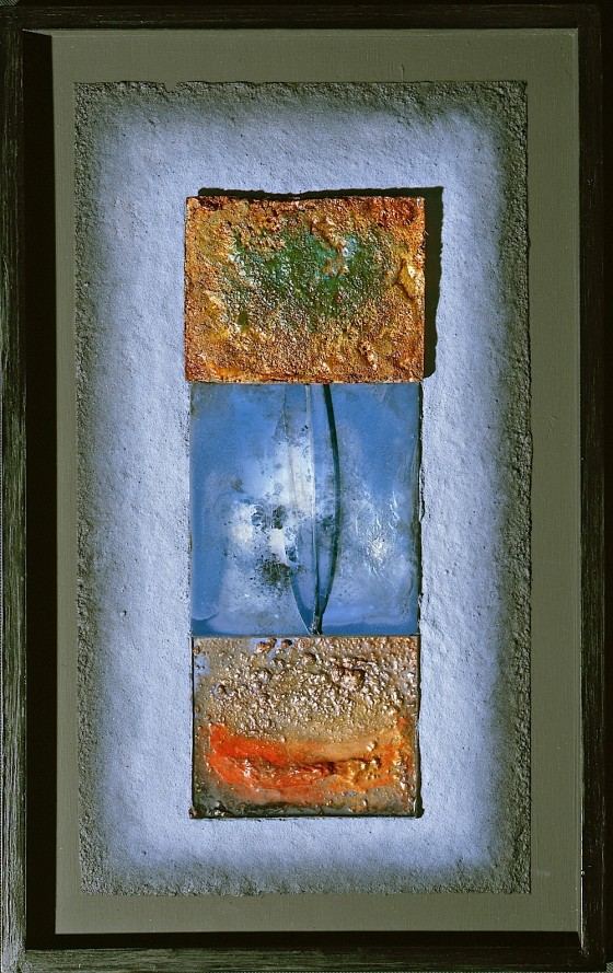 Next Swoon 1996 Oils, acrylics, plaster, earth, chemicals, wood stain, glass, on wood 57.5 x 36 cm Private collection UK