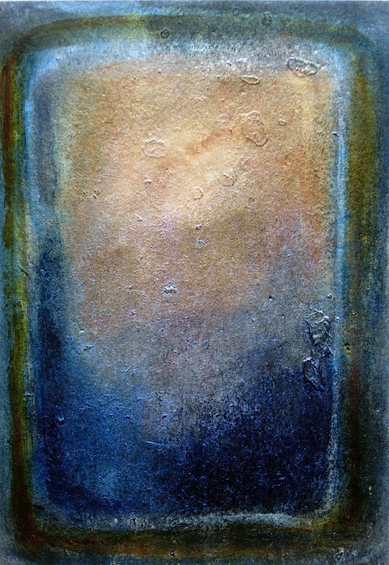 Silver The World Into Strangeness #1 2010 Oils, acrylics, on card 16 x 11 cm Private collection UK