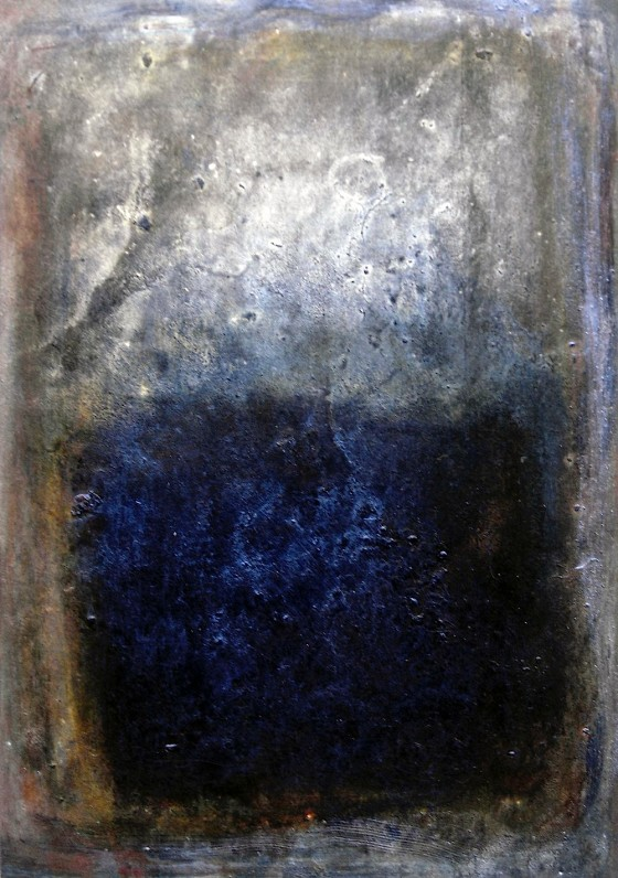 Silver The World Into Strangeness #2 2010 Oils, acrylics, on card 16 x 11 cm Private collection UK