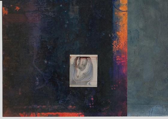 Sleeper #1 2013 Acrylics, oils, photocopy, on card 29.7 x 42 cm Private collection UK