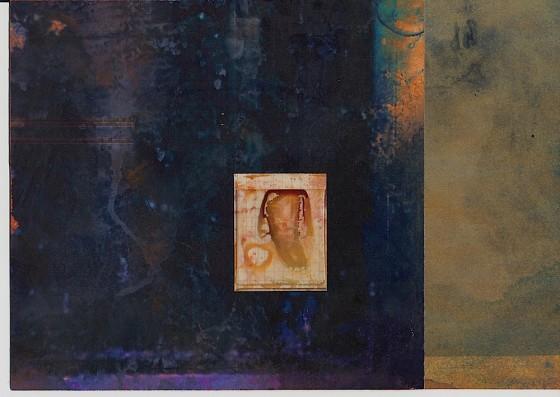 Sleeper #2 2013 Acrylics, oils, photocopy, on card 29.7 x 42 cm Private collection UK