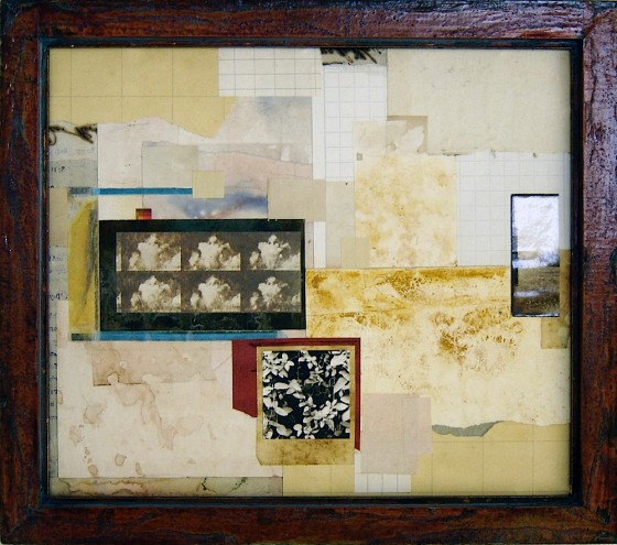Slowly Losing Its Identity 2010 Acrylics, treated papers, photographs, colour Xerox photocopy, on card. 36 x 41 cm