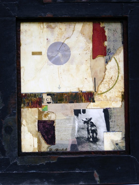Space Is Cover 2005 Oils, acrylics, watercolour, bronze powder, photograph, paper, on card 59 x 49 cm Private collection Japan