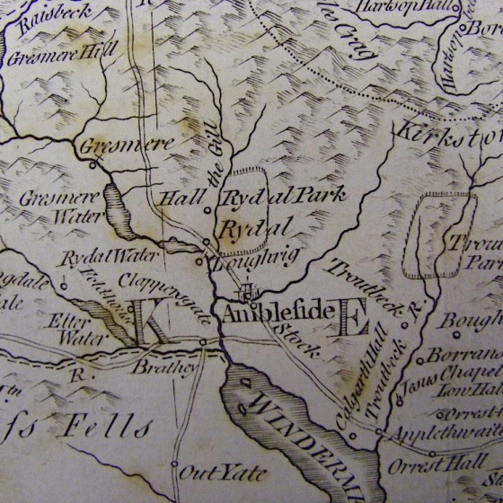 thomas kichin's map westmorland 1785