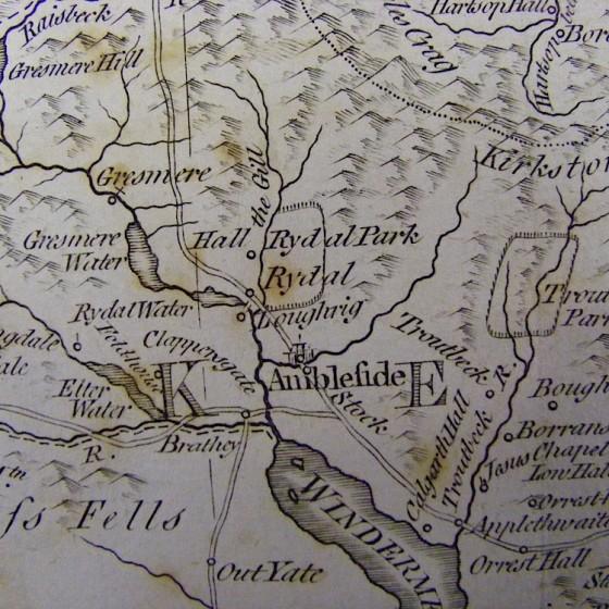 thomas kichin's map westmorland 1785